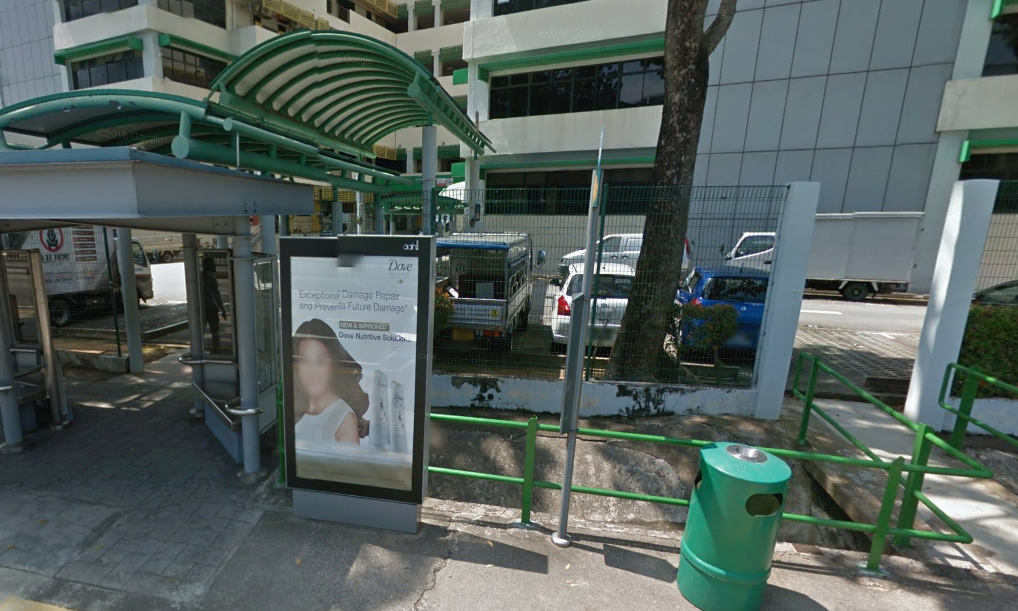 Bus stop outside Xinye Apparel Office
