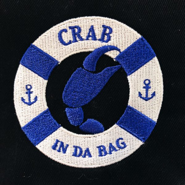 Crab in Da Bag Logo Embroidery