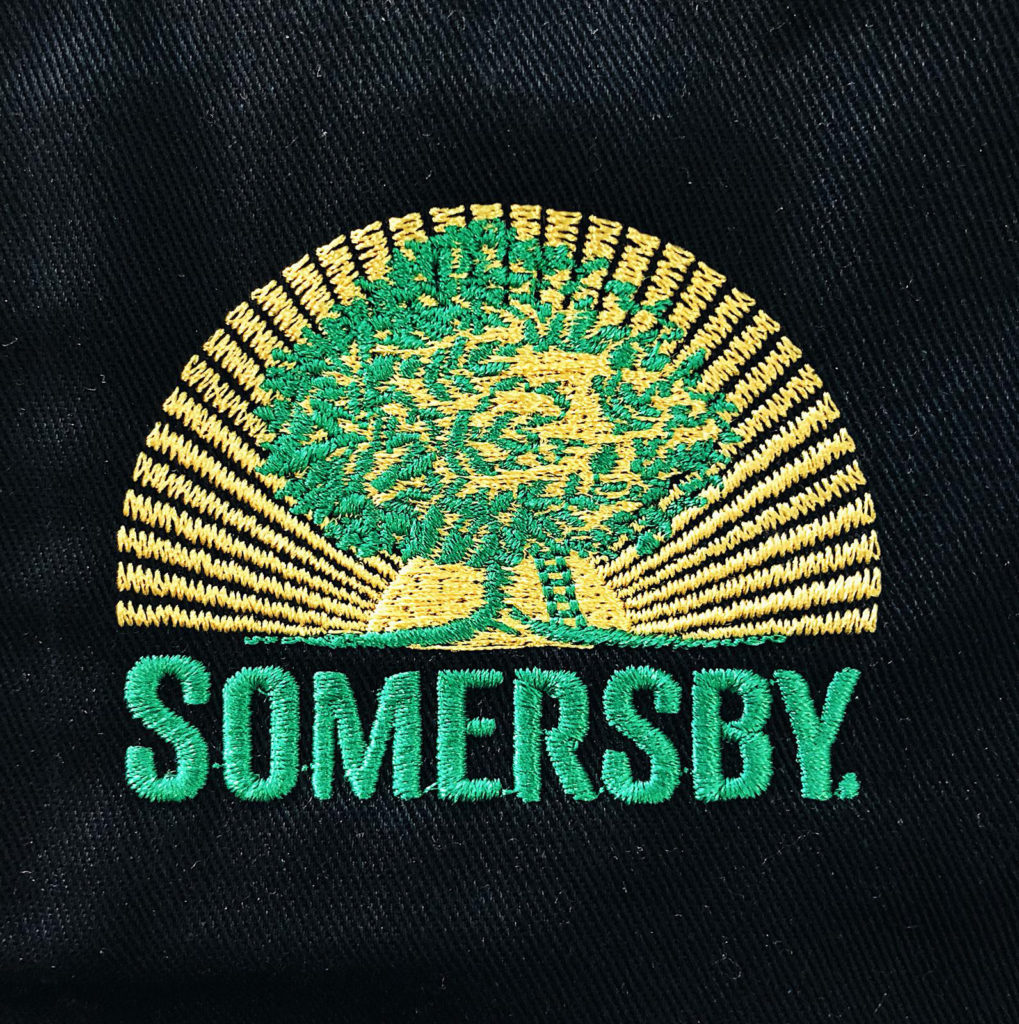 somersby logo embroidery