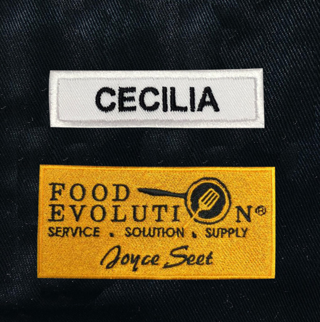 Name and Logo Badge Embroidery Sample