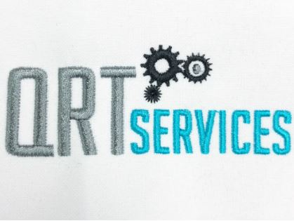 QRT Services Logo Embroidery